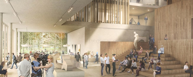 Artist's impression of the Faculty of Arts Building