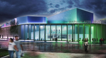 Artist impression of Warwick Arts Centre