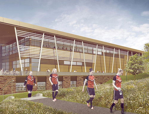 Artist impression of Warwick sports team and facilities
