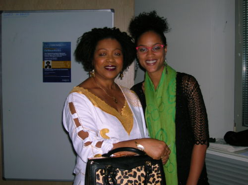 Professor Verene Shepherd with Lisa