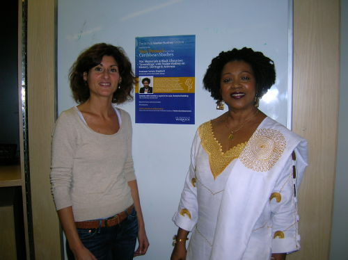 Dr Fabienne Viala, Director of the Yesu Persaud Centre for Caribbean Studies with guest speaker, Professor  Verene Shepherd.