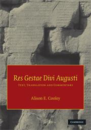 Prof alison cooley university of warwick - Res gestae divi augusti pdf ...