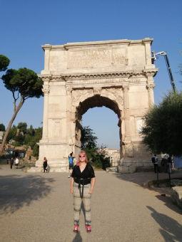 Nicky in Rome.