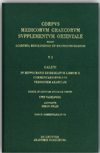Galeni in Hippocratis Epidemiarum librum II commentariorum IV-VI versio Arabica et indices Vol. 2.2, https://bit.ly/2IHDt9P