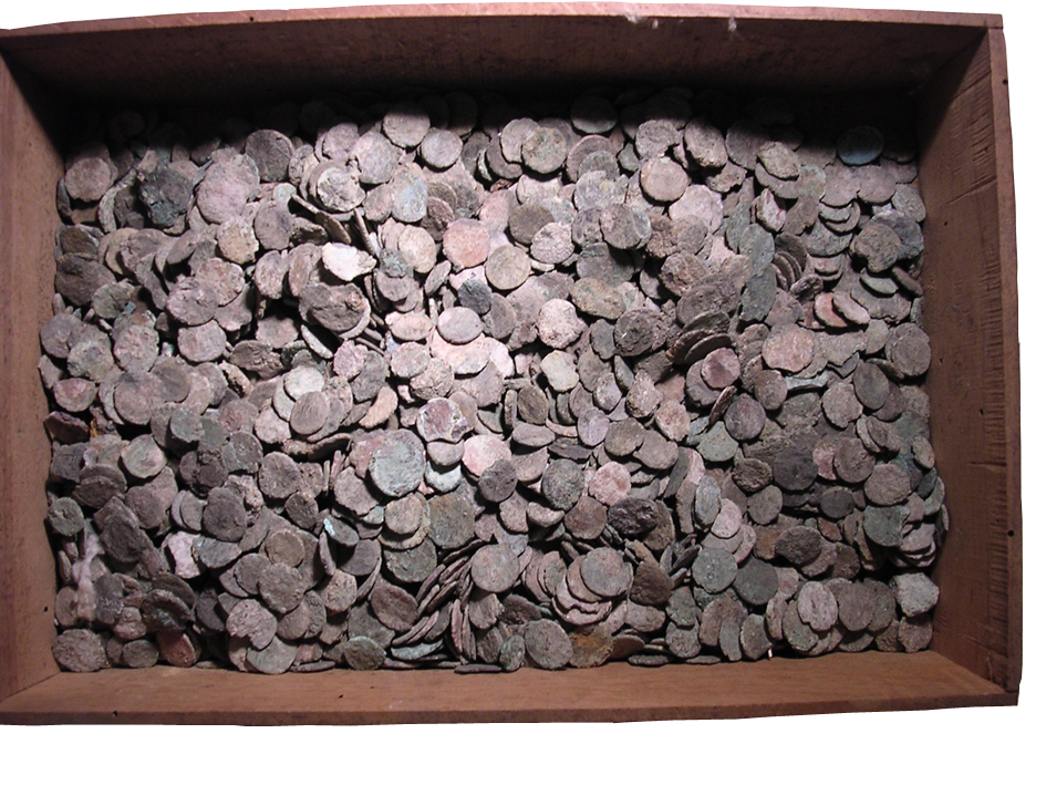 coins in box