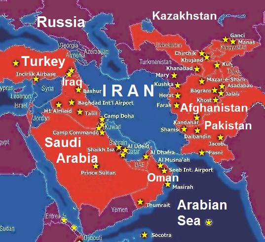 Us Military Bases Around Iran