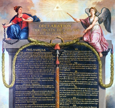 detail of Declaration of Rights of Man