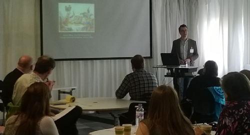 photo of Dr David Taylor speaking at workshop