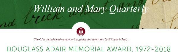 Douglass Adair Memorial Award
