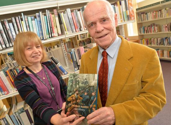Fred Reid in Library