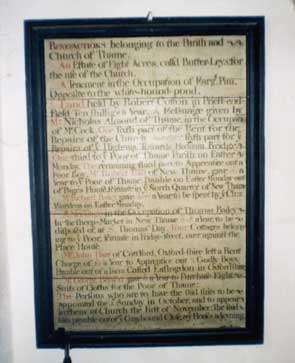 Benefactions for the Poor at Thame (Oxon.)