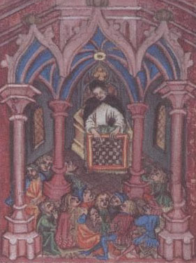 """Preacher from the 15thC """"Schachbuch"""" by Cessolis"""