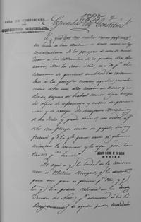 Draft of the Second Constitutional Law of Mexico's 1836 Constitution