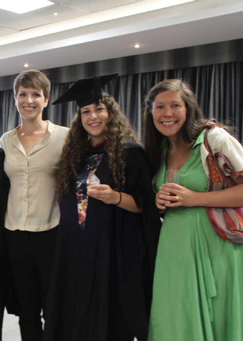 A photograph of Keren Brody on graduation day