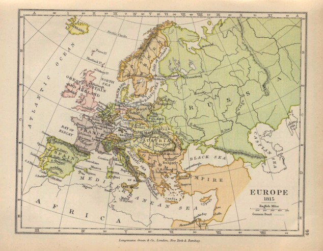 Map of Europe 1815