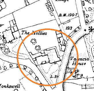 Valencia House, Ordnance Survey map 1908