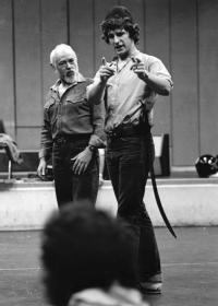 Michael Bryant (Hieronimo) and Joss Buckley (Pedringano) © Laurence Burns