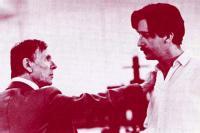 Basil Henson as the Duke of Castile and Stephen Brennan as Lorenzo, his son