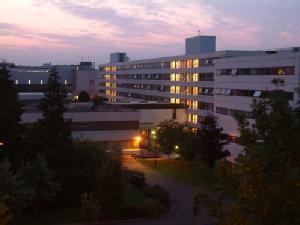 Humanities Building at Dusk