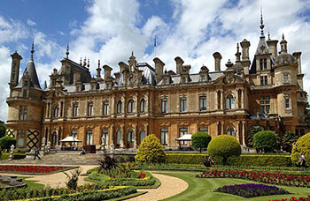 Exterior of Waddesdon Manor and garden