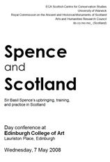 Spence and Scotland programme