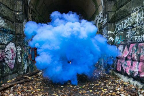 train tunnel smoke