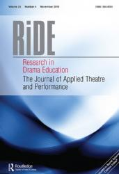 Yvette Hutchison Article ; Creating a network on and off-line, in and out of Africa: African Women Playwright Network, Research in Drama Education, Vol. 24: 4 (July 2019), pp. 508-521