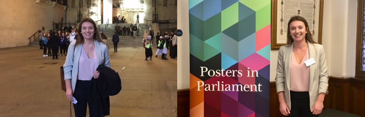 Alice Vodden at the Posters in Parliament Event