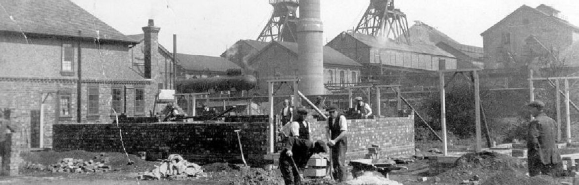 Miners working at the Binley Colliery