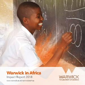 Front cover of the Warwick in Africa Impact Report 2018