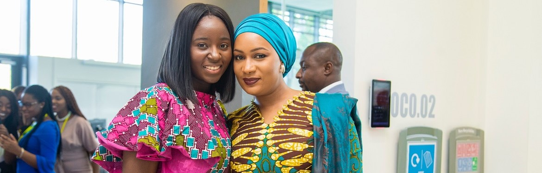 L-R: Nana Seiwaa Osei Afriyie, H.E Samira Bawumia (Republic of Ghana)