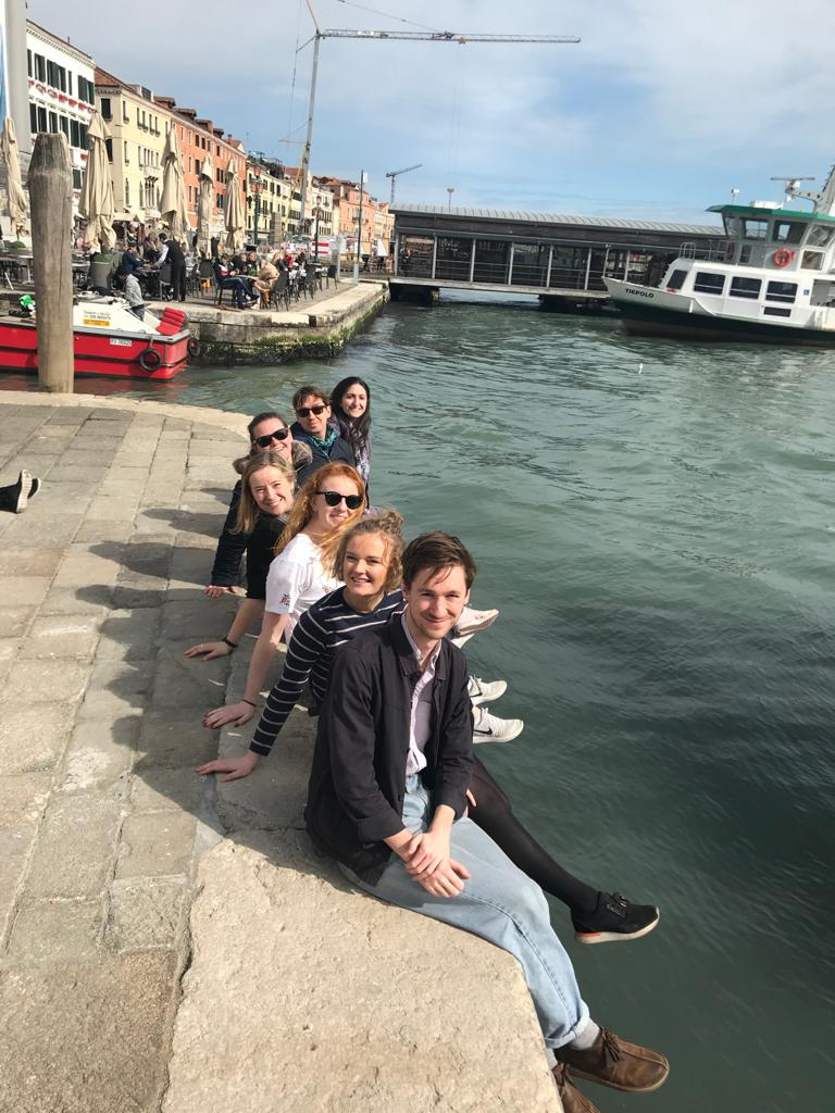 Dr Marta Guerriero and students from the School for Cross-faculty Studies on a trip to Venice