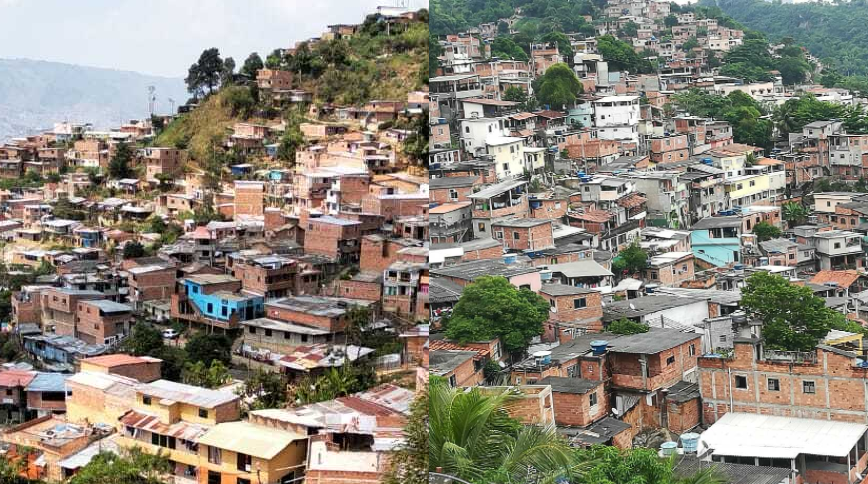 Combined photos of Morro do Preventorio and El Pacifico