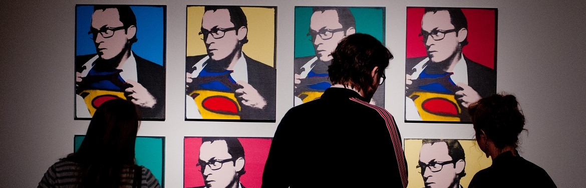 opening of the Andy Warhol Exhibit at Olin Galleries..