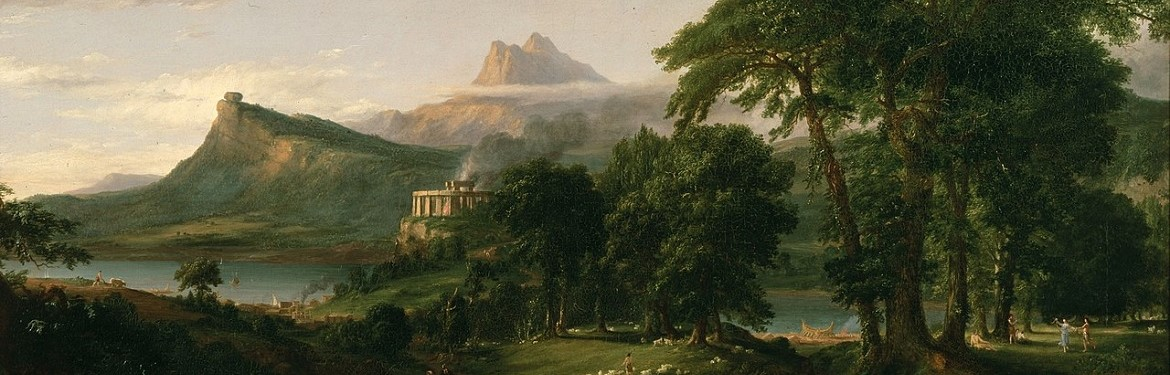 Thomas Cole's The Arcadian or Pastoral State, 1834.