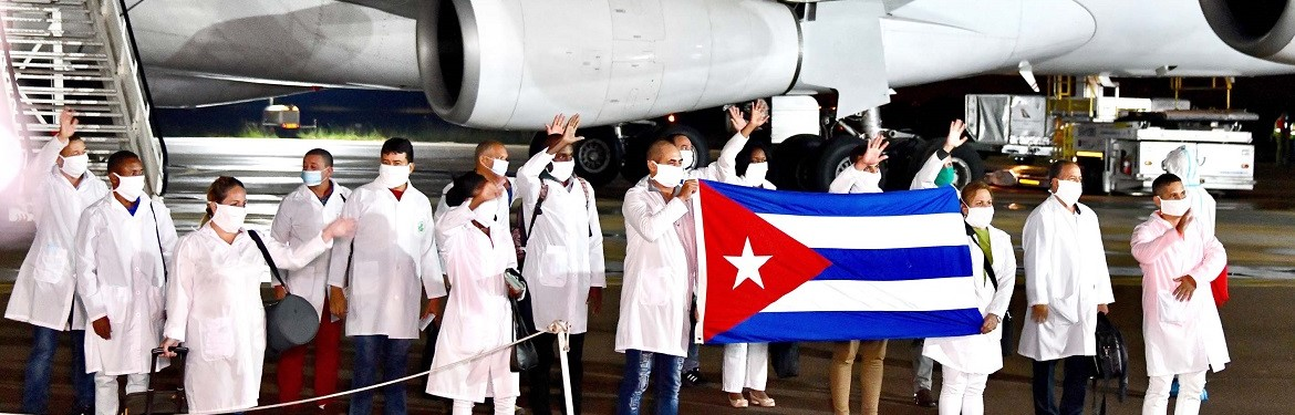 Cuban Health Specialists arrive in South Africa to support efforts to curb the spread of COVID-19.