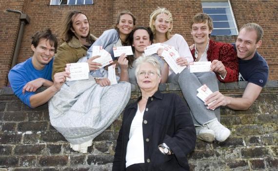 Susan Brock and students