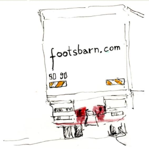 Footsbarn Lorry - Courtesy of Art Soc