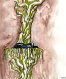 Titania asleep in tree - Courtesy of Art Soc