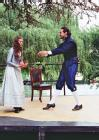 Antonio Capulet (Jeff Leach) tells Julia that she is to marry the Count of Paris.