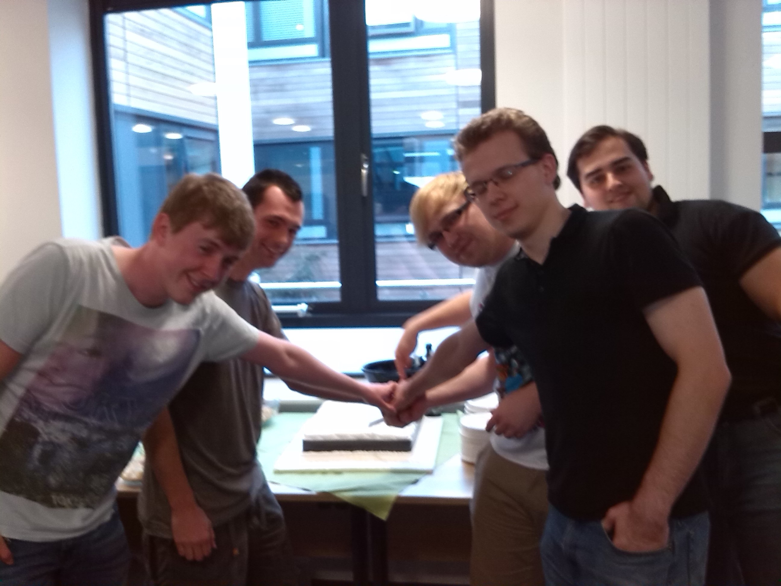 msc exam board celebration centre for complexity science news mwc cutting the cake 2014 jpg