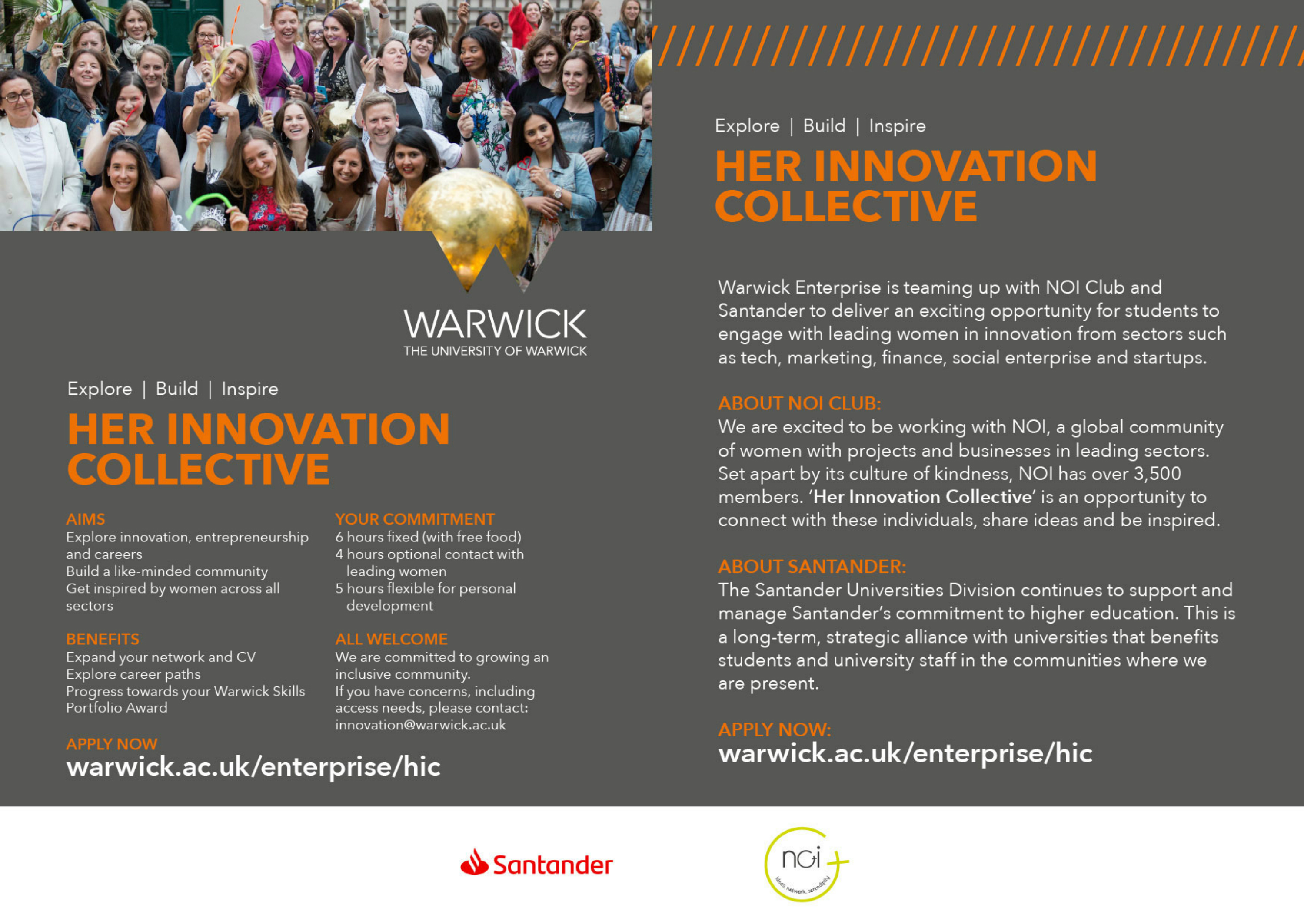 Her Innovation Collective with partner logos