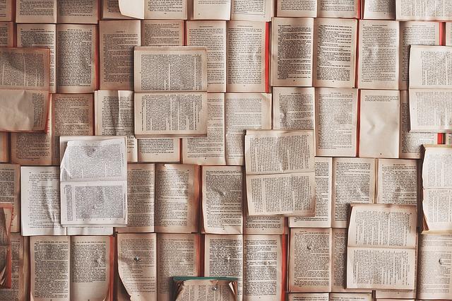 various open books