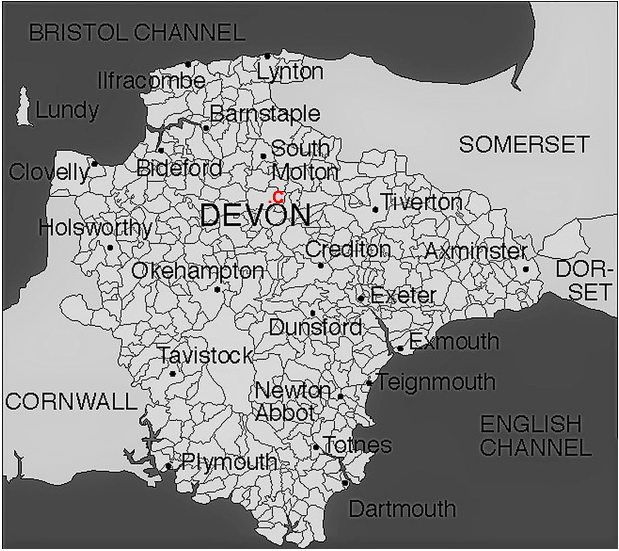 Map Of Uk 1800.Devon Migration