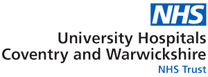 NHS University Hospitals Coventry and Warwickshire NHS Trust logo and link to site