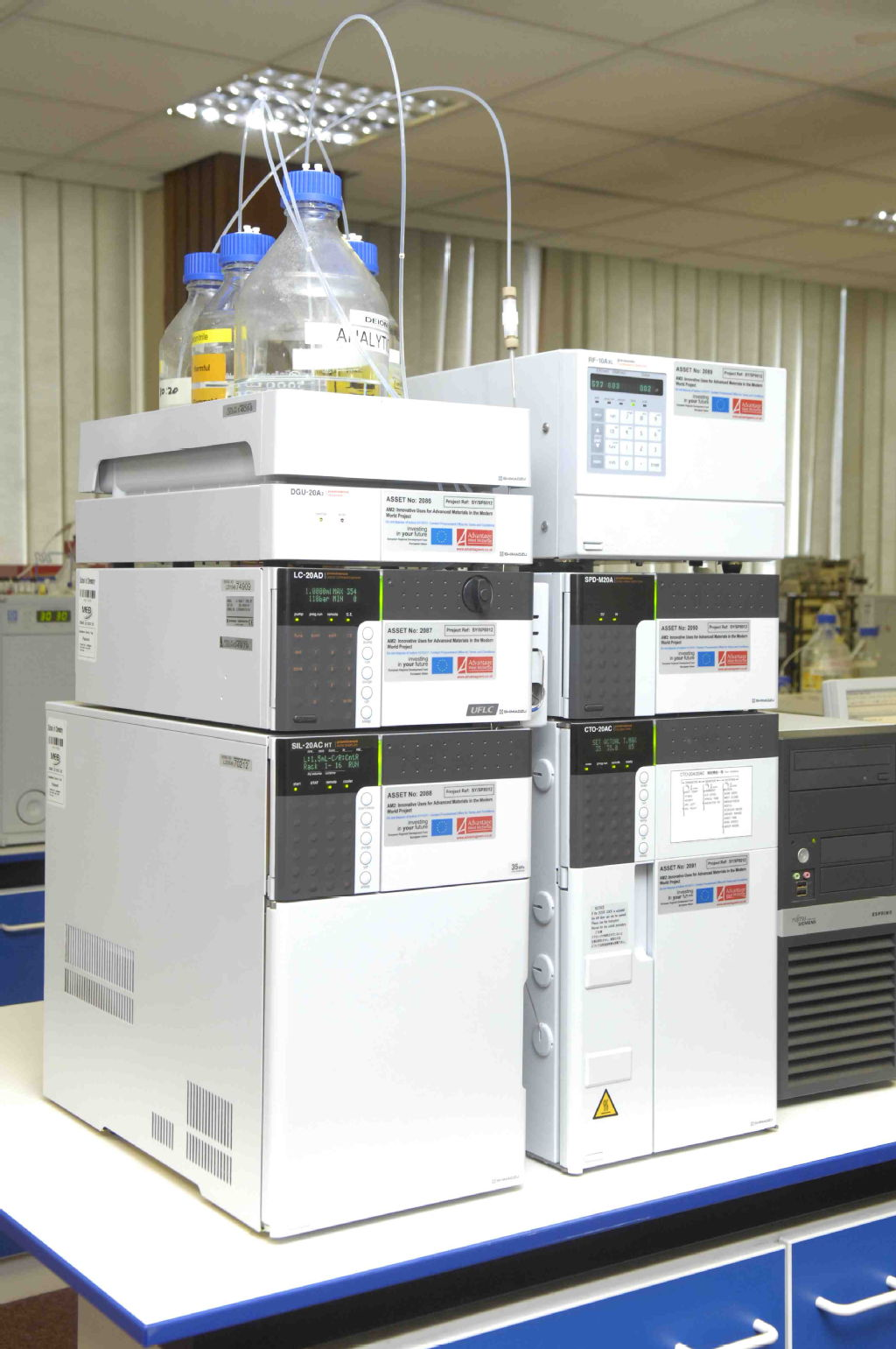 Gas chromatography and diode array