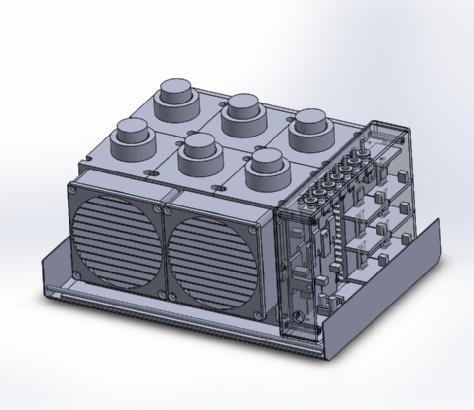 6 channel UV reactor