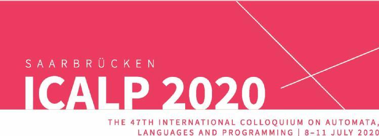 ICALP 2020