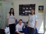Flick, Adam and Louise at the Cheltenham Science Fair