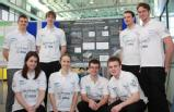 The team at their assessed poster presentation